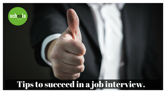Tips to succeed in a job interview.