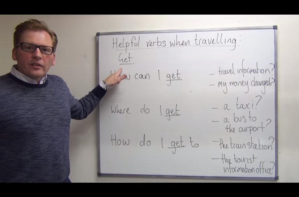 Helpful verbs when travelling